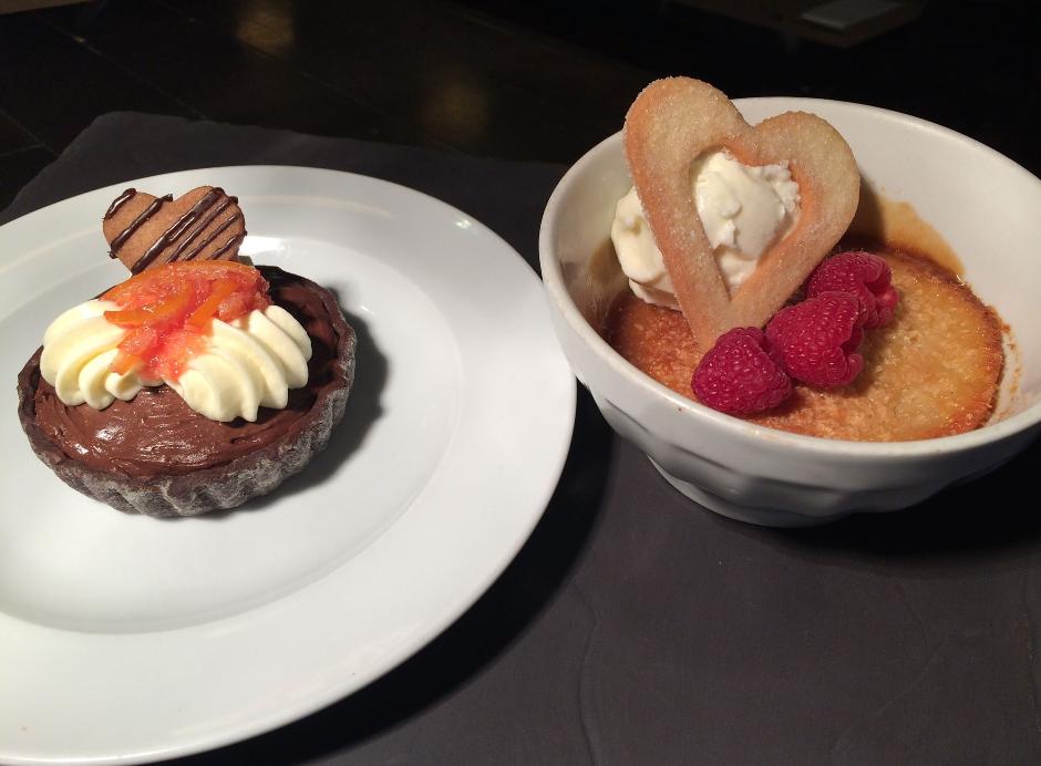 menu saint-valentin desserts